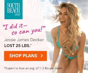 Jessie James Decker on South Beach Diet Plan