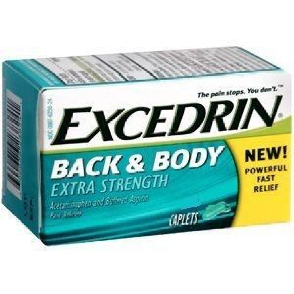 Excedrin for back pain