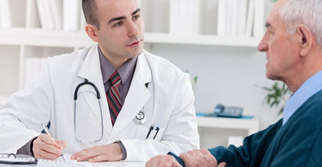 Doctor dealing with person have yellow armpit skin