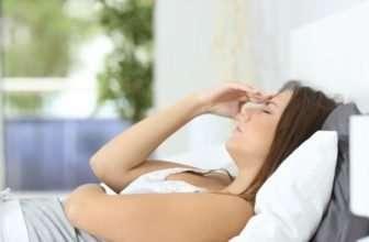 nausea when lying down
